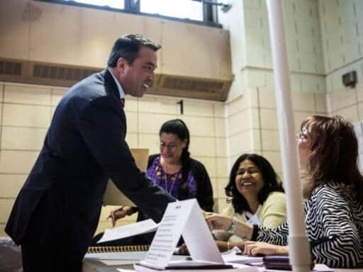 Michael Grimm is trying to take back his old congressional seat in New York.