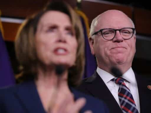 Rep. Joseph Crowley (D-NY) with House Minority Leader Nancy Pelosi (D-CA).
