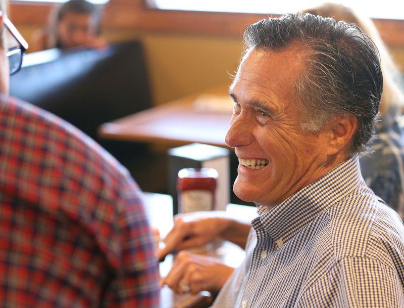 Republican U.S Senate candidate Mitt Romney