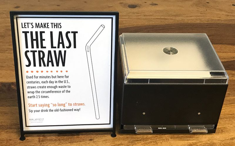 uofportland_straws_paperstraw_dispenser Can banning plastic straws really save the ocean? No. But we should ban them anyway.