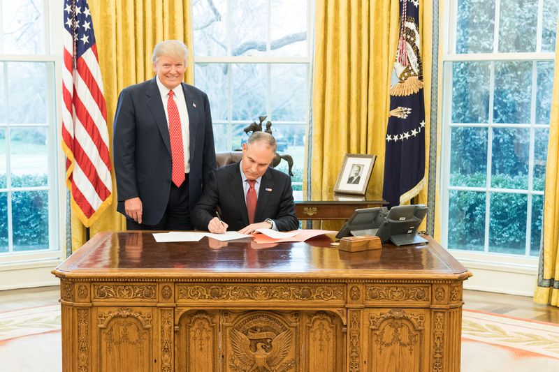 2017_pruittsigning2 Why Scott Pruitt lasted so long at the EPA, and what finally did him in