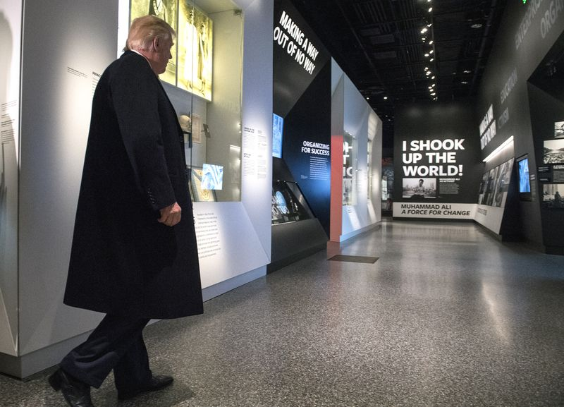 President Trump Visits African-American Museum in Washington