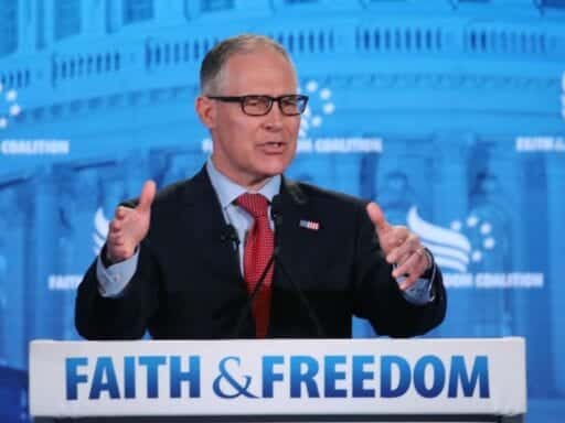 "969767006.jpg.0-2 Scott Pruitt's parting words to Trump: you are president ""because of God's providence"""