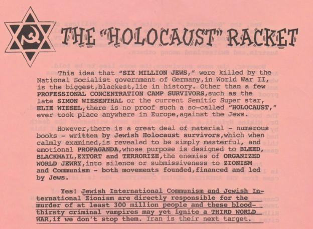 Art Jones Holocaust Denier Nazi