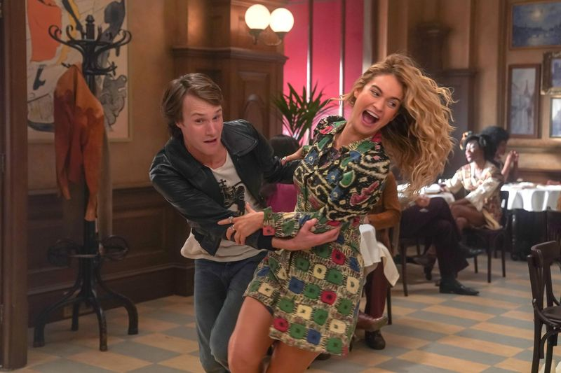 Lily James and Hugh Skinner in Mamma Mia! Here We Go Again