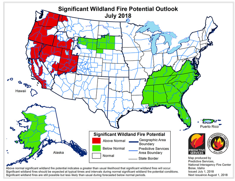 month1_outlook Huge wildfires are spreading again in California and Colorado. They're poised to get worse.