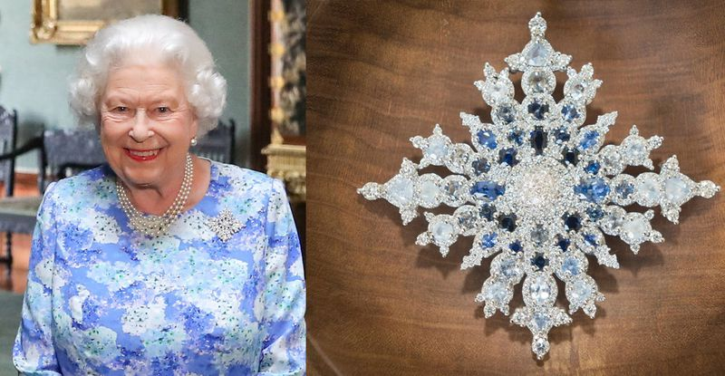 """qe2 """"Brooch warfare,"""" explained: what Queen Elizabeth's jewels might be saying about Trump"""