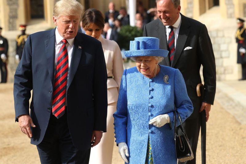 """trumpbrooch """"Brooch warfare,"""" explained: what Queen Elizabeth's jewels might be saying about Trump"""